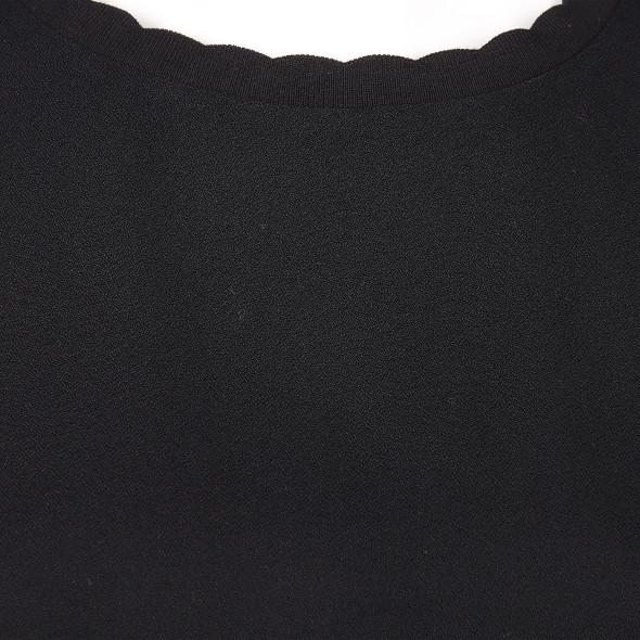 Damen Shirt mit kleinem Wellenkragen