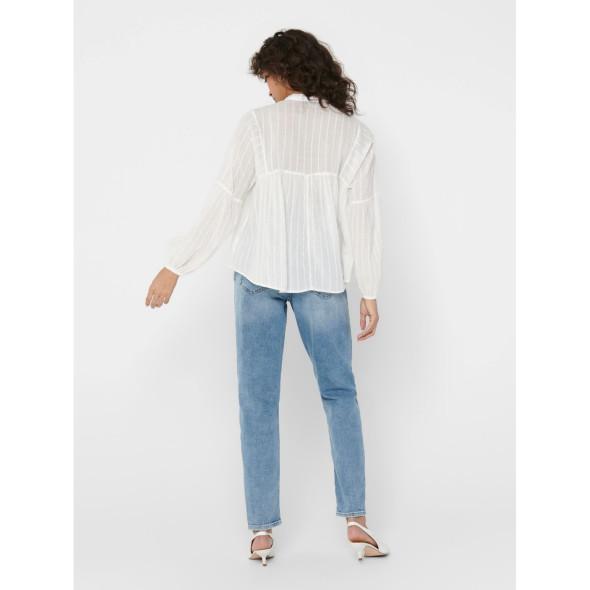 Only ONLNEW ELISA LS STRIP Bluse in transparenter Optik
