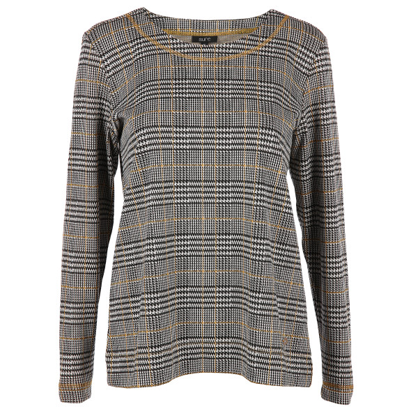 Damen Sweatshirt im Glencheckmuster