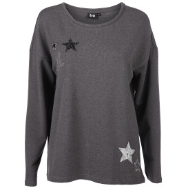 Damen Sweatshirt mit Sternapplikation