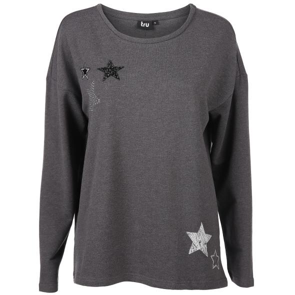 Damen Sweatshirt mit Sternapplikation