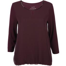 Damen Materialmix-Shirt mit 3/4 Ärmel