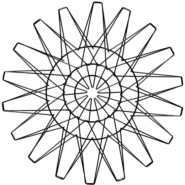 Metallkorb 5in1, 48cm Durchmesser