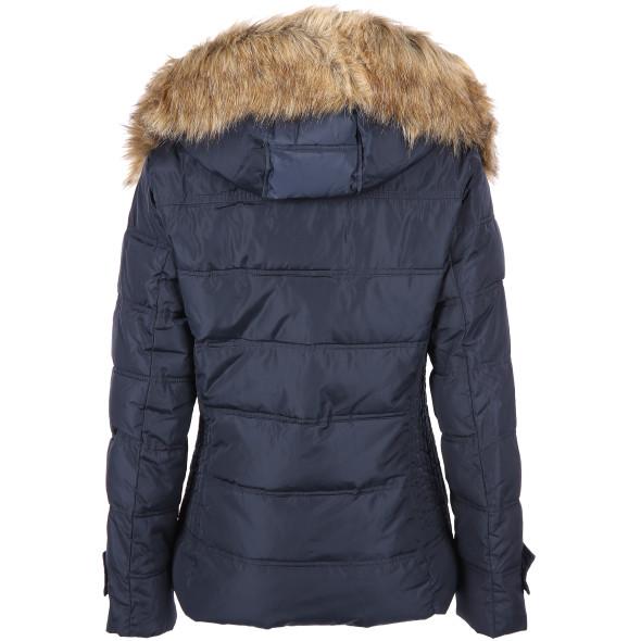 Damen Winterjacke mit Kapuze und abnehmbarem Kunstfell
