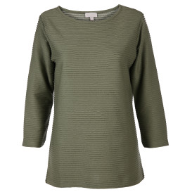 Damen Shirt mit Struktur, 3/4 Arm