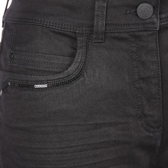Damen Jeans mit Paillettenbesatz