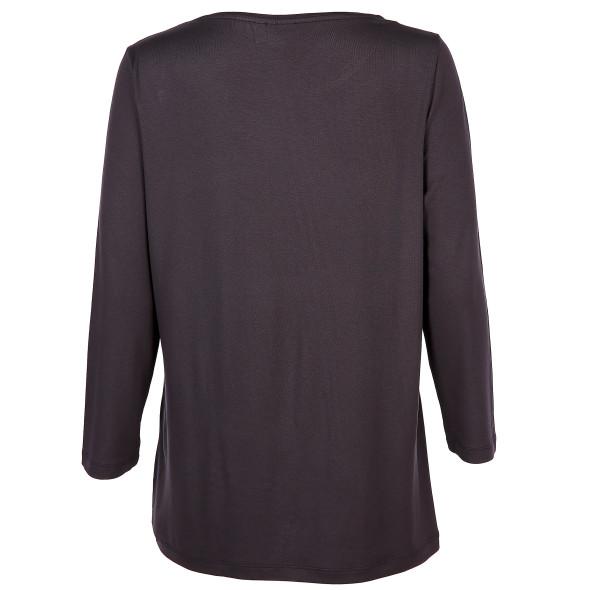 Damen Materialmix Shirt mit 3/4 Ärmeln