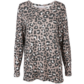 Damen Shirt mit Leo Alloverprint