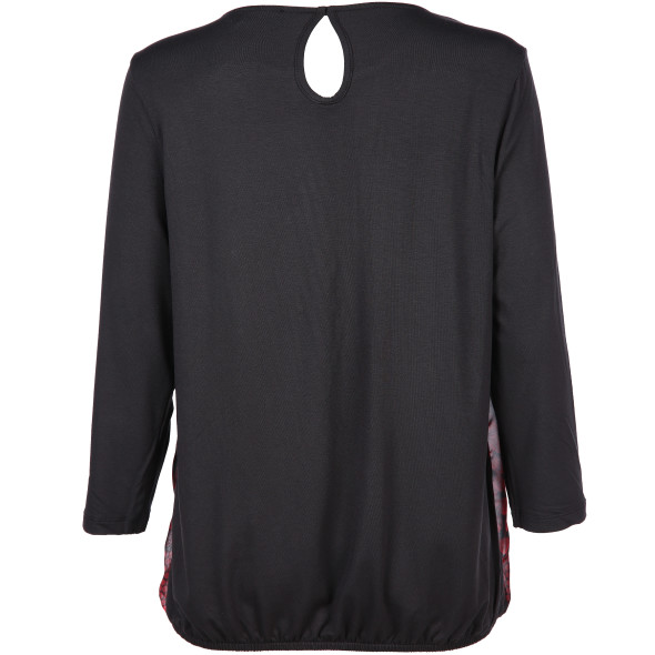 Damen Materialmix Shirt mit Gummizug