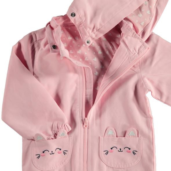Baby Jacke mit Kapuze und Stickerei