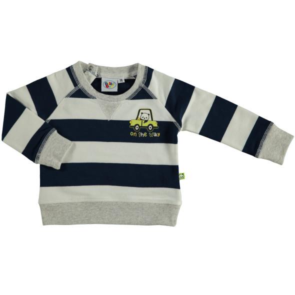 Baby Sweatshirt mit Streifen und Print