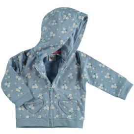 Baby Cardigan mit Kapuze im Alloverprint