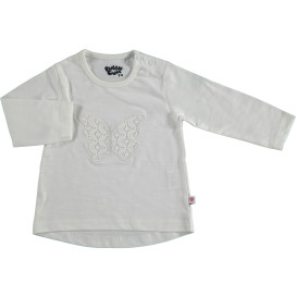 Baby Langarmshirt mit Spitzen-Applikation