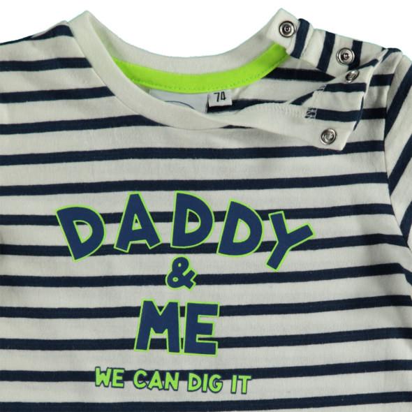 Baby Langarmshirt mit Streifen und Print