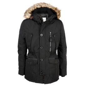 Herren  Snowcoat-Jacke mit Fellkapuze