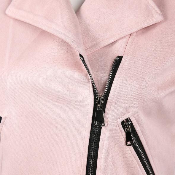 Hailys MELLY Kurzjacke mit schrägem Reißverschluss