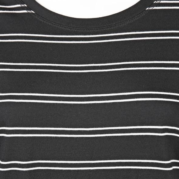 Damen Shirt mit Streifen und Knotendetail