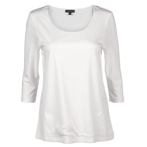 Damen Basic Shirt mit 3/4 Ärmeln