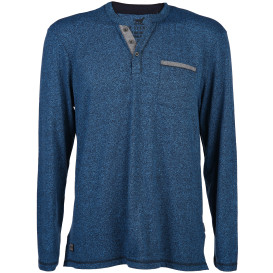 Herren Henley Shirt in melierter Optik