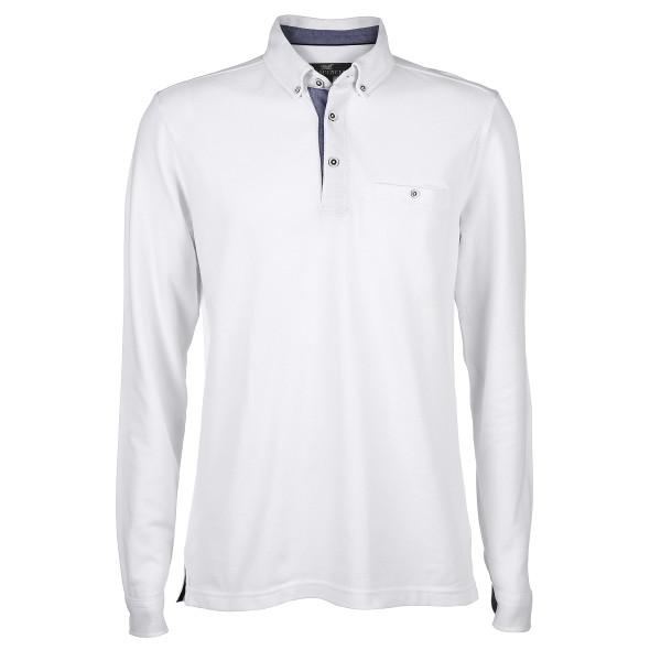 Herren Poloshirt mit Button Down Kragen
