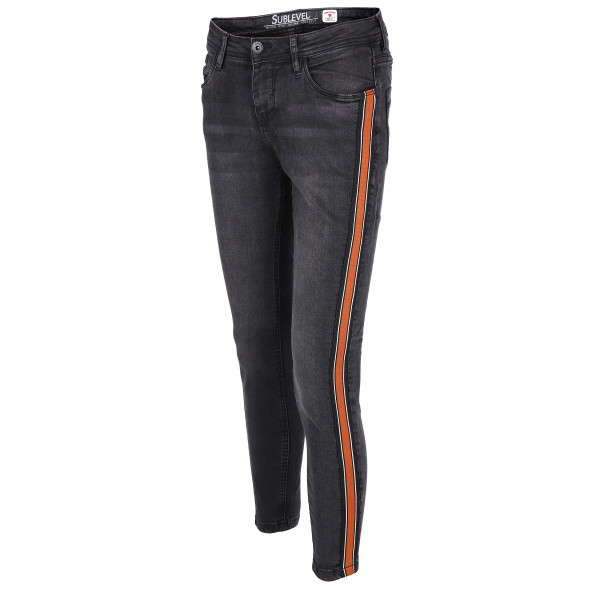 am besten bewerteten neuesten neue sorten Brauch Damen Jeans mit Galonstreifen