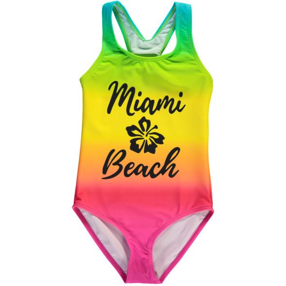 Mädchen Badeanzug mit Farbverlauf
