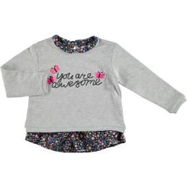 Mädchen Sweatshirt  mit Blümchendetails