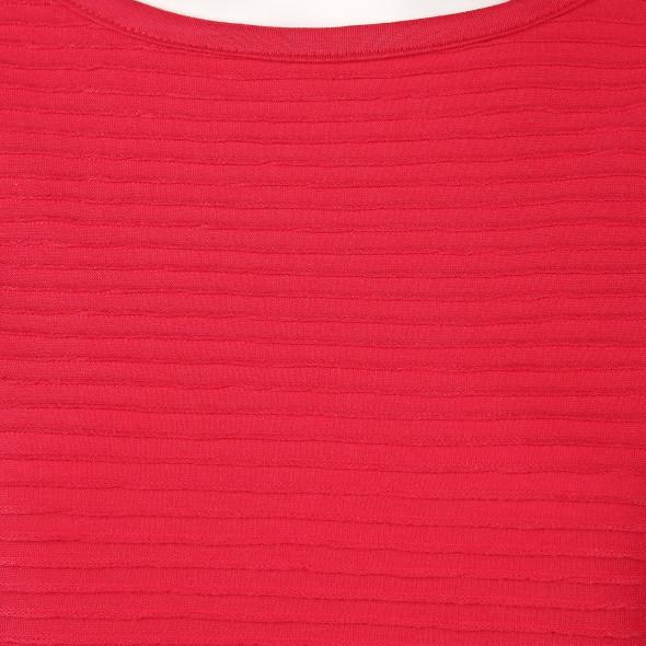 Damen Shirt in Ottoman Rib mit 3/4 Arm