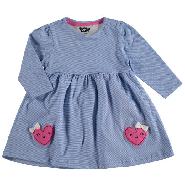 Baby Langarm Kleid mit zarten Streifen