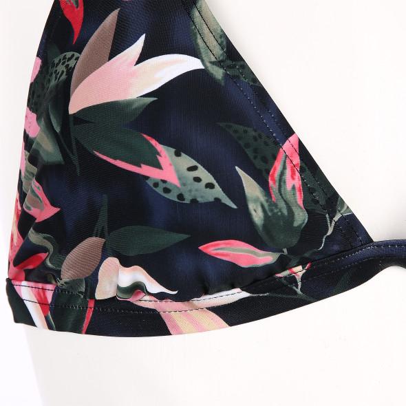 Damen Neckholder-Oberteil mit Blütenprint