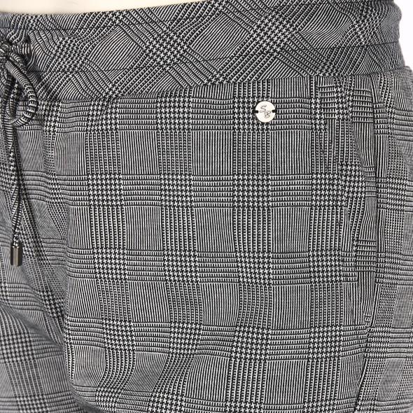 Große Größen Joggpants im Glencheck Muster