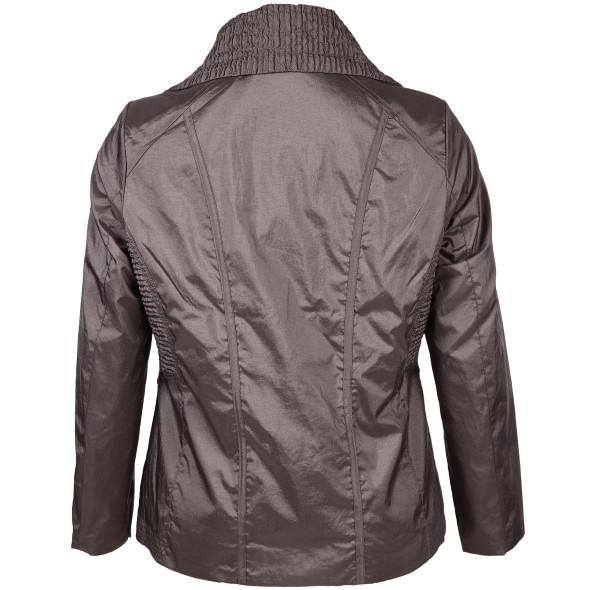 Große Größen Jacke in glänzender Optik