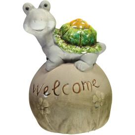 """Schildkröte """"Welcome"""" aus Keramik, 10 cm hoch"""