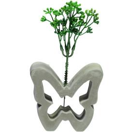 Vase in Schmetterlingsform mit Kunstzweig, 10 cm hoch