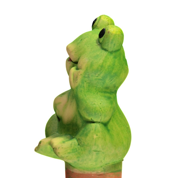 Frosch aus Keramik, 10 cm hoch