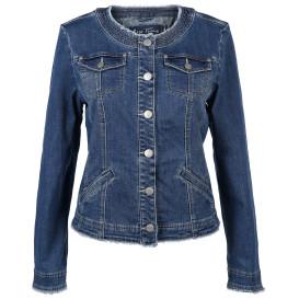Damen Jeansjacke mit Fransenkanten