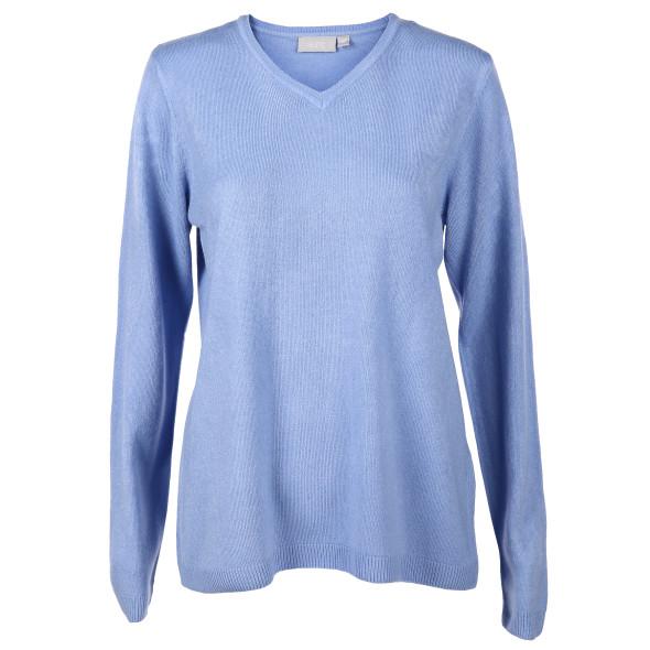 Damen Cashmere-Like Pullover mit V-Ausschnitt