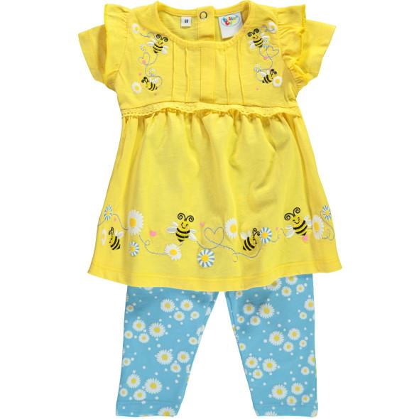 Baby Mädchen 2er Set bestehend aus Blüschen und Leggings