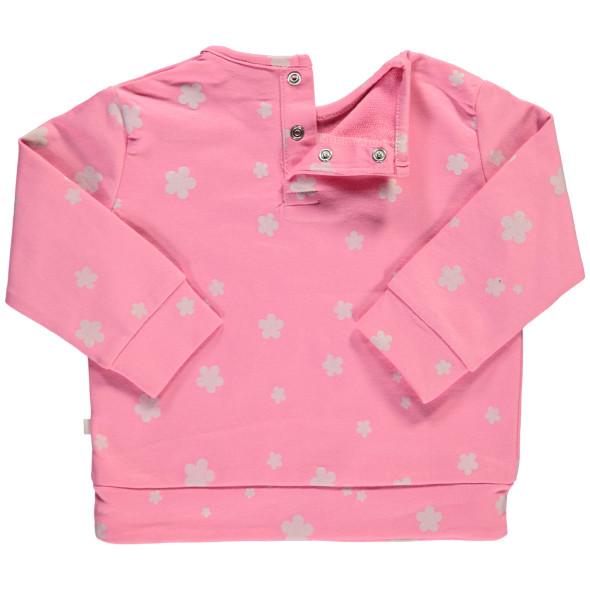 Mädchen Sweatshirt mit Alloverprint und Stickerei