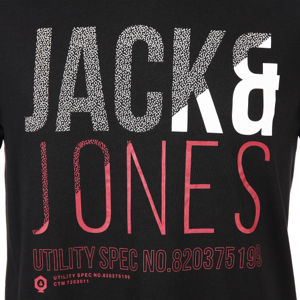 Jack&Jones JCOFOKE TEE SS CREW N Shirt mit Schriftprint