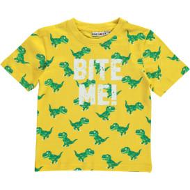 Jungen T-Shirt mit Dinoprint und Schriftzug