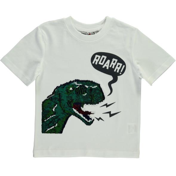 Jungen Shirt mit Print und Wendepailletten
