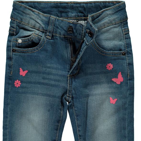 Mädchen Jeanshose mit kleinen Prints