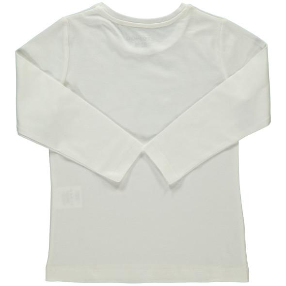 Mädchen Langarmshirt mit Pailletten und Frontprint