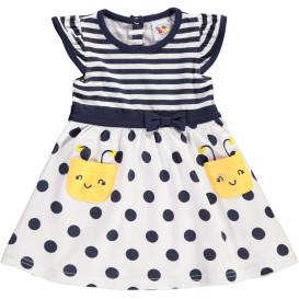 Baby Kleidchen mit Streifen und Punkten