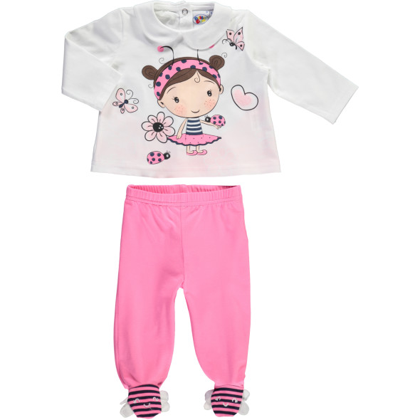 Baby Mädchen 2er Set bestehend aus Hose und Longsleeve