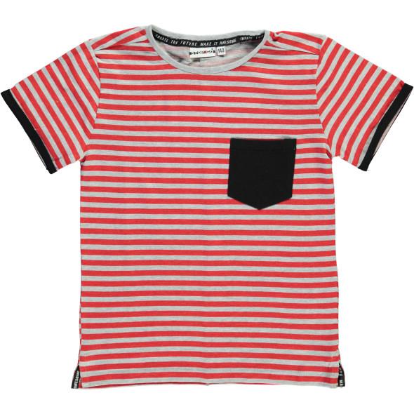 Jungen Shirt mit Streifen und Brusttasche