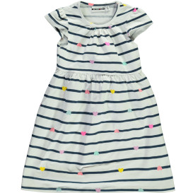 Mädchen Kleid mit Streifen und Herzprint