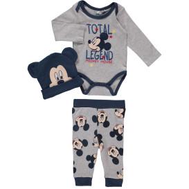 Baby-Set 3tlg, best. aus Strampler, Hose und Mütze