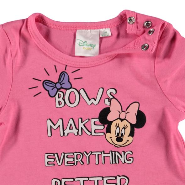 Baby Mädchen Langarmshirt mit Minnie Mouse Motiv